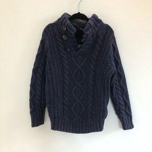 GAP Baby Navy Button Up Pullover Sweater sz 3T